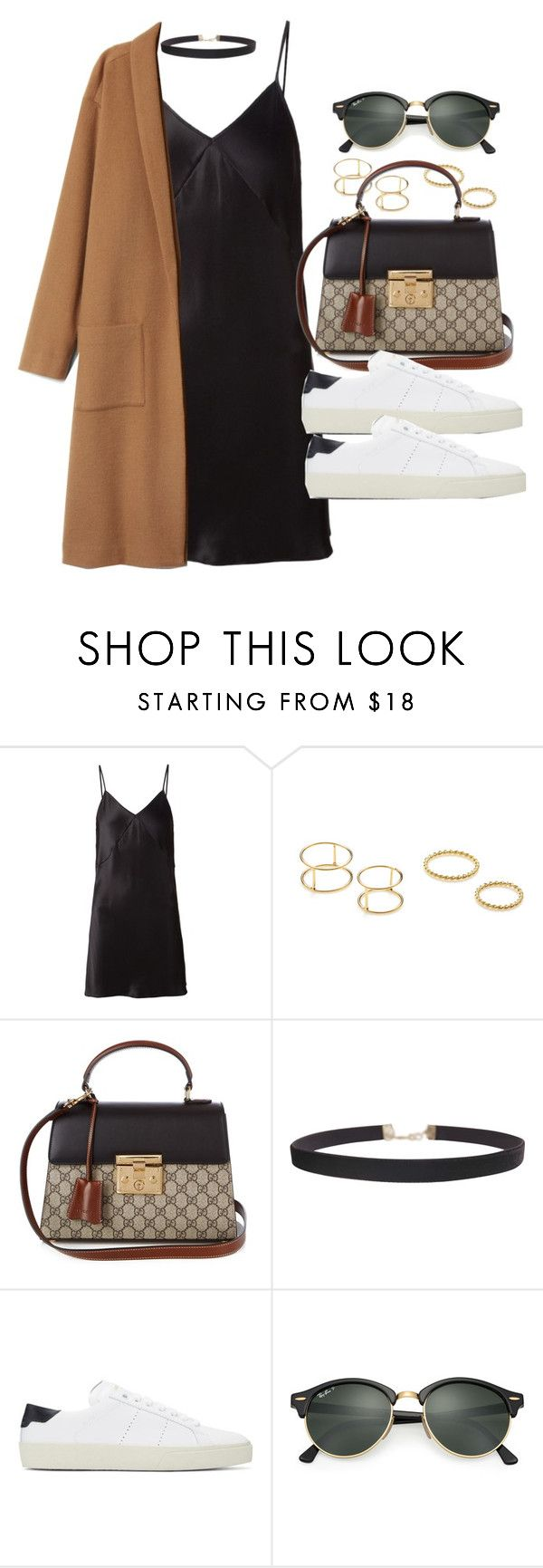 """""""Sin título #11970"""" by vany-alvarado ❤ liked on Polyvore featuring Fleur du Mal, Jeweliq, Gucci, Humble Chic, Yves Saint Laurent and Ray-Ban"""