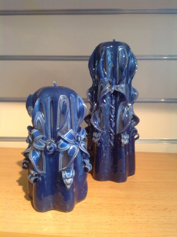 Carved Medium Pillar Candle in a variety of by artofcandles, £15.99