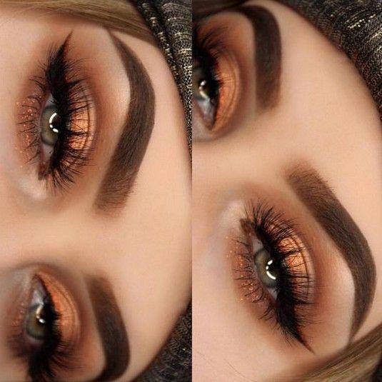 43 Sexy Sunset 😊 Eyes Makeup Idea für Abschlussball und Hochzeit 💕