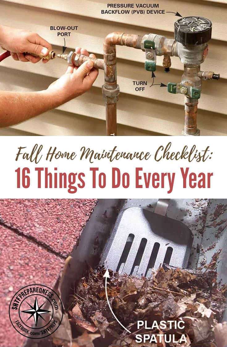Fall Home Maintenance Checklist: 16 Things to Do Every Year — Fall is in full swing, and with that nip in the air, you know winter isn't far behind. There are a lot of home maintenance tasks that good homeowners know need to be done annually in autumn, and many home repairs you should take care of now before it gets too cold or snowy.