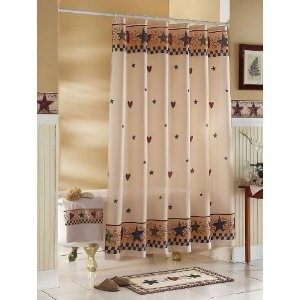 Primitive Shower Curtains Country Shower Curtains And Shower Curtains On Pinterest