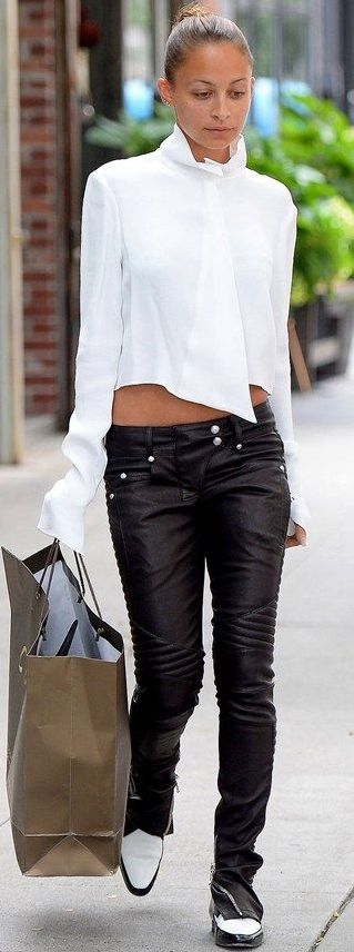 street style. get the look pvc trousers £19.99