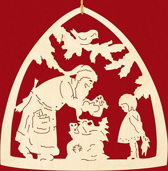 Taulin Fensterbild Weihnachten Bescherung