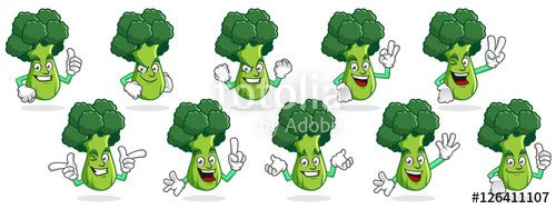 "Download the royalty-free vector ""broccoli mascot vector pack, broccoli character set, vector of broccoli "" designed by ednal at the lowest price on Fotolia.com. Browse our cheap image bank online to find the perfect stock vector for your marketing projects!"
