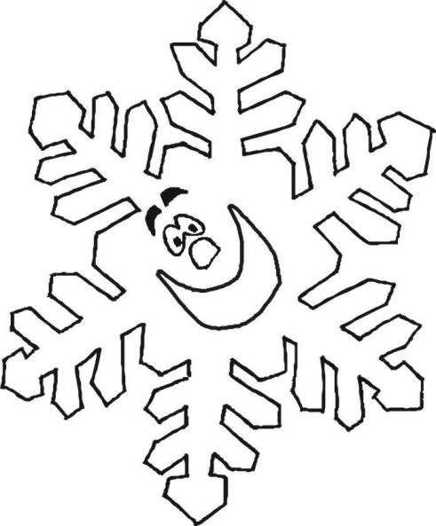 Schneeflocken Einfach Malvorlagen Kostenlos   Schneeflocke ...