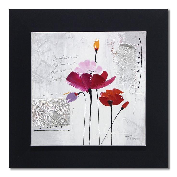 Peinture sur toile 30x30cm - Pava rose - Toiles décoratives-Affiches ...