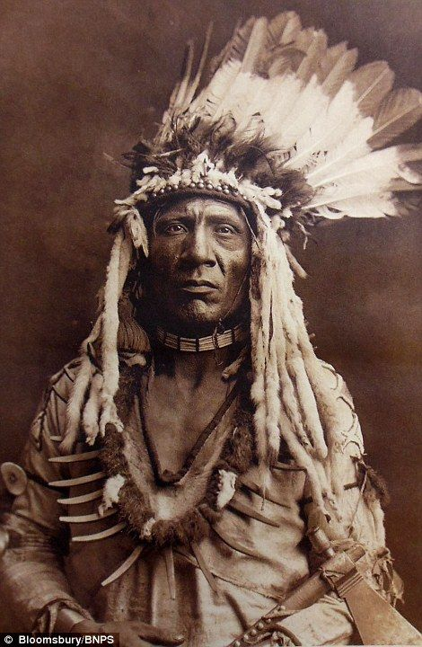 Weasel Tail of the Piegan tribe in 1900; Piegan refers to two Native tribes in the Blackfo...