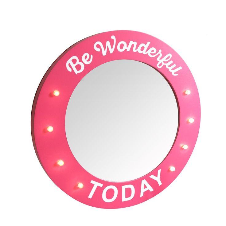 "🌟NEW : miroir lumineux ""Be Wonderful Today"" 15,90€ au lieu de 24,90€ dispo ici   http://ow.ly/Xk4j3082bI4 #deco"