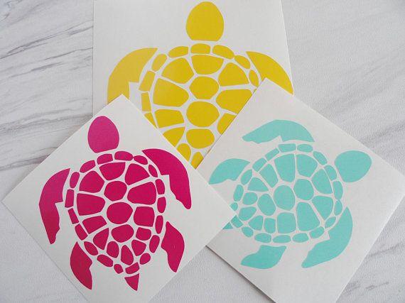 Sea Turtle decal Sticker  Turtle Decal  Car Window Sticker