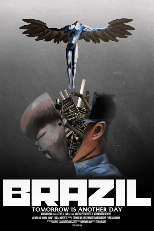 """Brazil - Terry Gilliam  Genial distopía basada, una vez más, en la propuesta de Orwell y su """"Gran Hermano"""" aunque esta vez muy bien llevada al terreno donde Gilliam se mueve mejor: la exageración más exagerada. Aunque el tercio final no me entusiasme en exceso, Brazil es la película más redonda de Gilliam o al menos la que a mi más me encandila."""