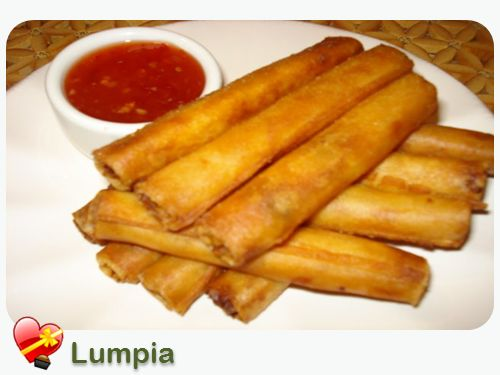 """Local Filipino """"Lumpia"""" Favorite  A delicious favorite in Hawaii, Lumpia is a local style Filipino dish. There are many variations to this recipe, just start with a basic version and add some of your favorite vegetables. Enjoy!"""