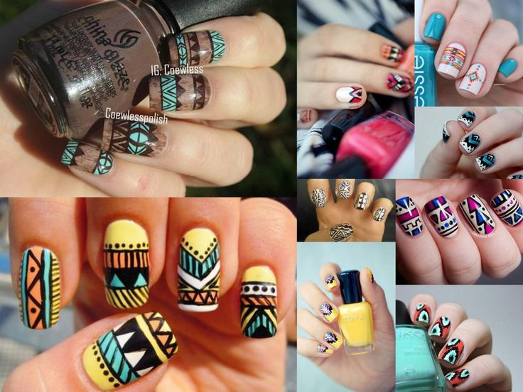 45 best african print nails images on pinterest african prints afro tendance nail art prinsesfo Images