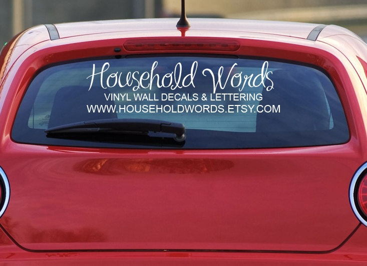 Custom car decals for window your logo personalized made to order decals vehicle stickers advertise your