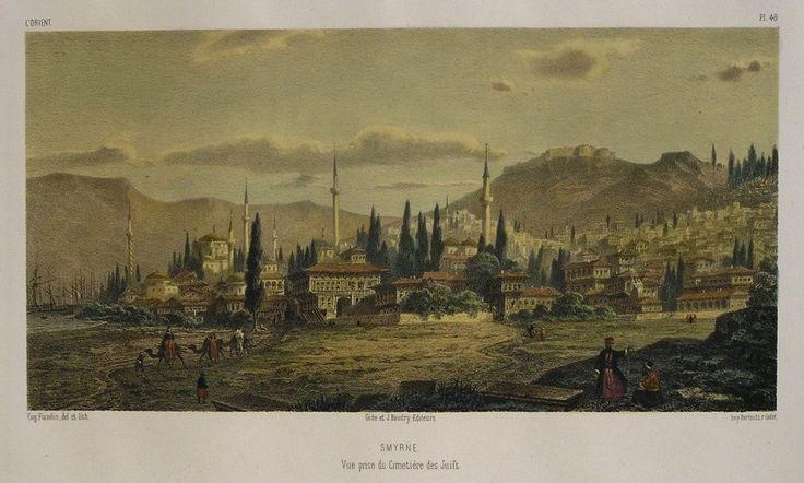 "Konak'ta yahudi mezarlığından kente bakış.. ""Vue prise du cimetiere des Juifs"""