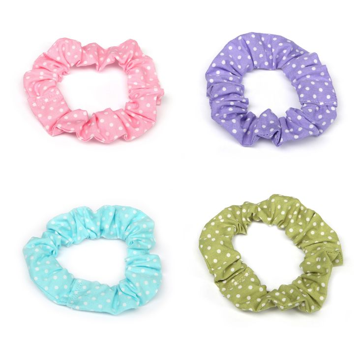 Assorted Polka Dot Scrunchies