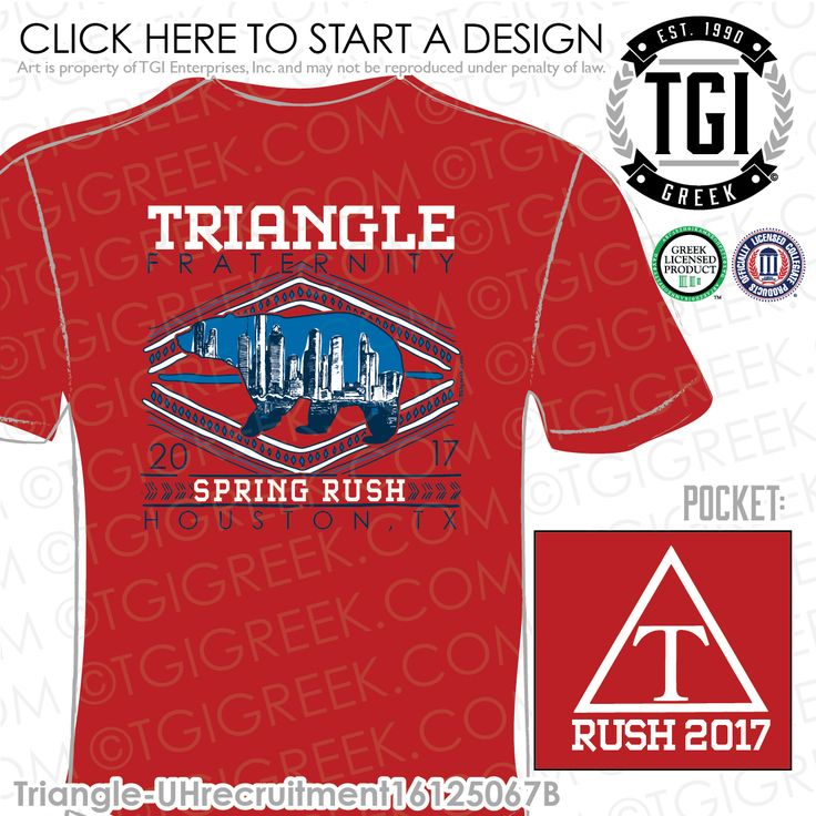 Triangle | Spring Rush | Fraternity Rush Shirt | Spring Rush Shirt | Brotherhood | TGI Greek | Greek Apparel | Custom Apparel | Sorority Tee Shirts | Sorority T-shirts | Custom T-Shirts