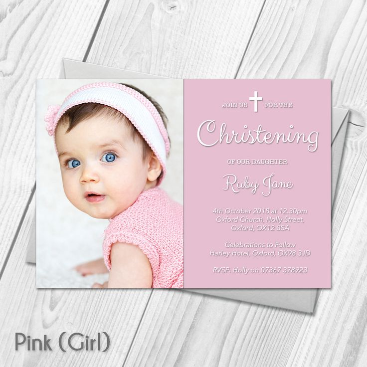 Personalised Christening Baptism Invitations with Photo