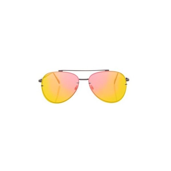 Topshop Attitude Flat Lens Black Sunglasses (505.440 VND) ❤ liked on Polyvore featuring accessories, eyewear, sunglasses, pink, metal sunglasses, metal glasses, pink glasses, pink sunglasses and topshop sunglasses