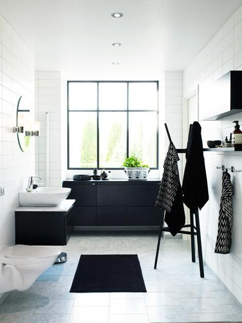 Black And White Bathroom Decor 100 best black and white bathrooms images on pinterest | bathroom