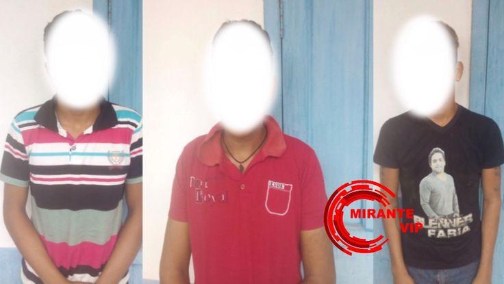 Três menores são apreendidos pela Polícia Militar após furtar loja em Mirante da Serra