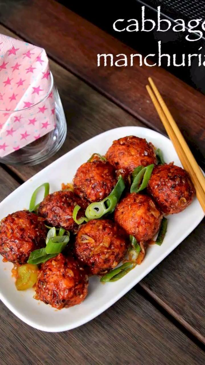 cabbage manchurian recipe | dry cabbage veg manchurian recipe with detailed phot…