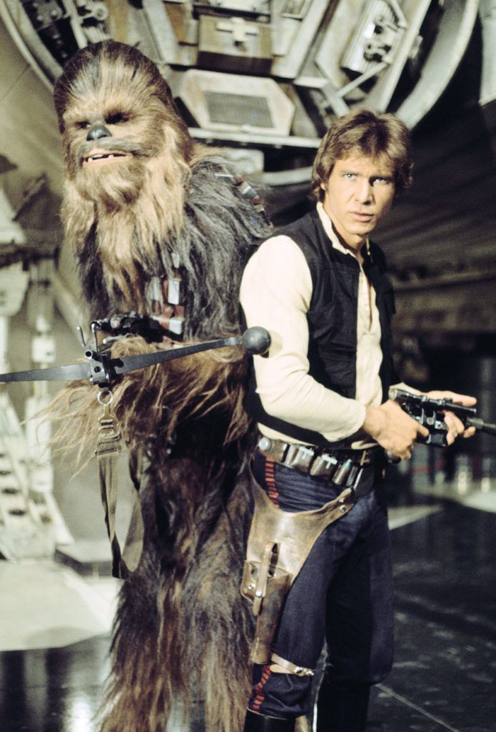 Photo Shoot Of Han Solo And Chewbacca From Star Wars A New Hope From The Book Star Wars Icons Han Solo Star Wars Icons Star Wars 1977 Han Solo And Chewbacca