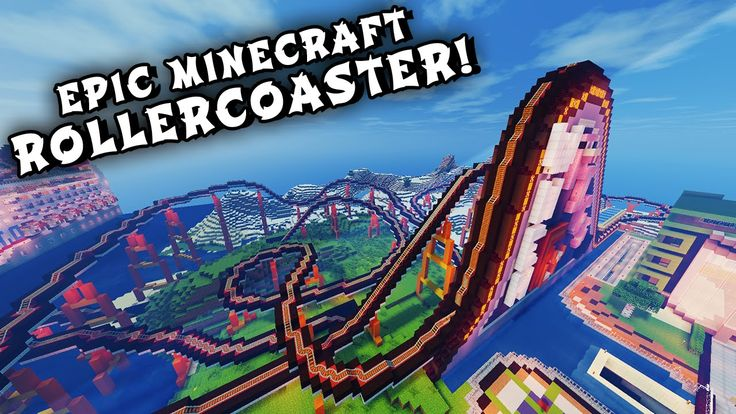 Minecraft Maps - EPIC ROLLERCOASTER! (When Pigs Fly Rollercoaster) - YouTube