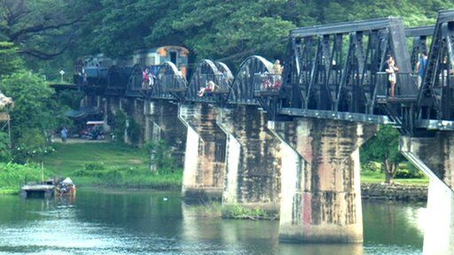 """The Bridge over the River Kwai, part of Japan's """"Death Railway"""" built by PoWs is still in use and popular with visitors.: Kwai Revisited, Sport Join, Bridges, Rivers"""