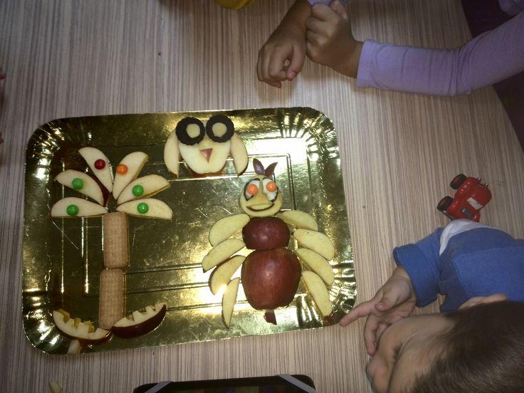 Δημιουργώντας με τα μήλα.
