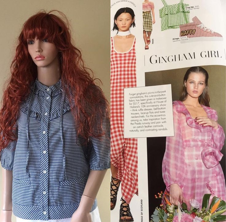 GINGHAM GIRL This cute fabric has been given a makeover for SS17  Visit me at www.classycloset.co.uk