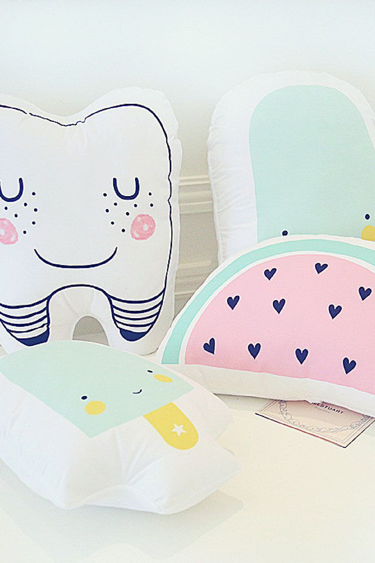 Cute cushions to brighten up your kid's room.