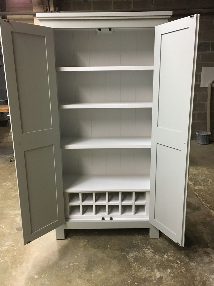 Larder cupboard with built in wine rack. CAN BE MADE ANY SIZE OR COLOUR!