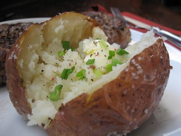 Another keeper from Alton Browns show Good Eats! I dont make baked potatoes any other way now.