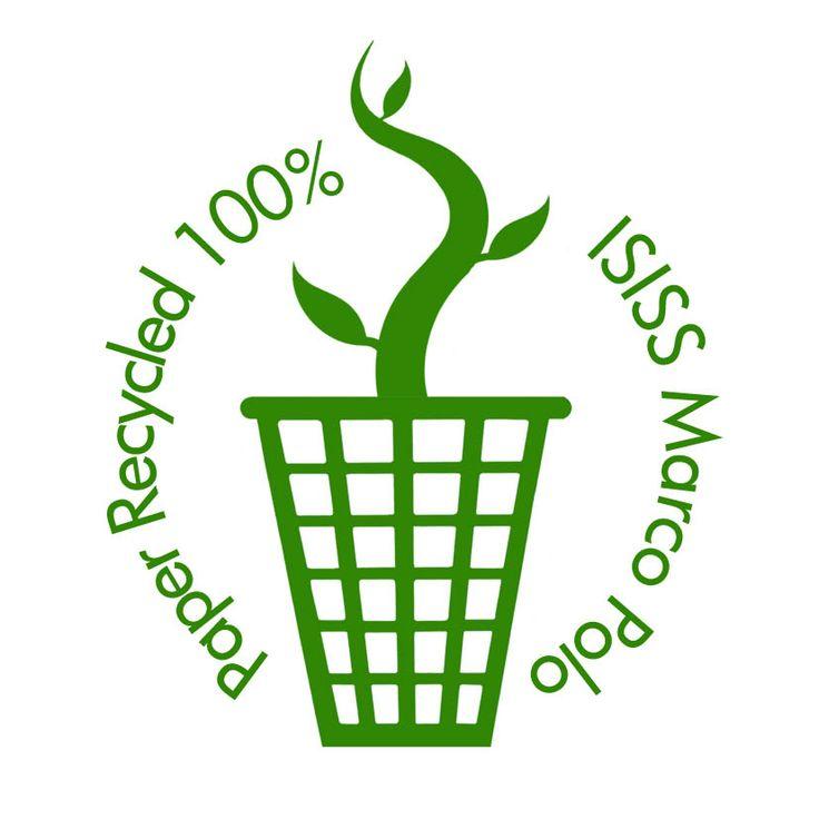 Logo per la campagna di riciclaggio della carta dell'istituto. Chiara Ribechini, 2013
