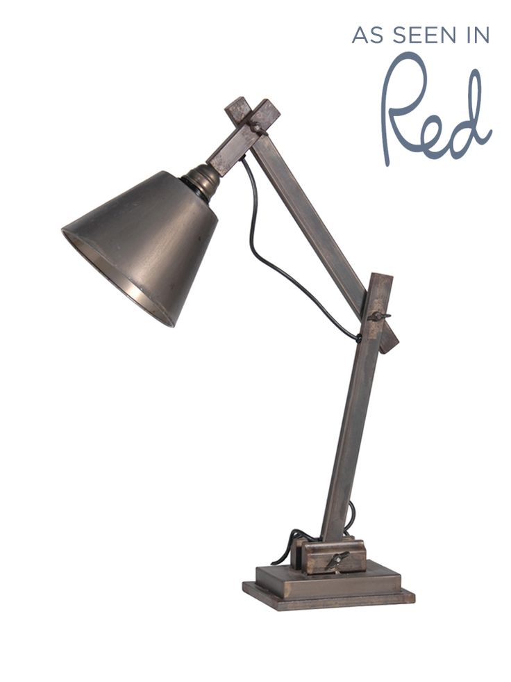 Aged Zinc Table Lamp
