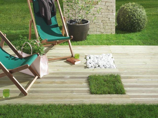 Terrasse en pin préservé vert