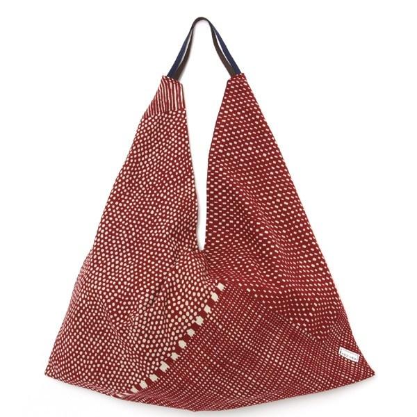 SOU • SOU Furoshiki Tote Bag Red Dots and Stripes - it's my favorite