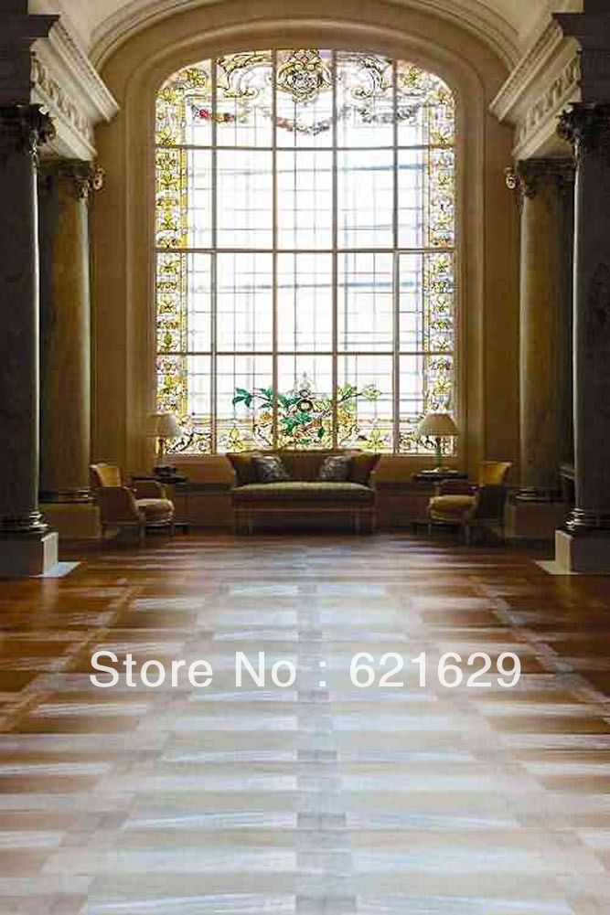 Зал С Гигантскими Window 8'x12 'СР Компьютерная роспись Scenic Фотография Фон Фотостудия Фон ZJZ-685