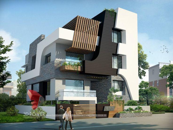 197 best elevation images on pinterest modern homes for Ultra modern exterior design
