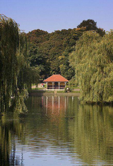 Wardown Park, Lake Luton, Bedfordshire, England