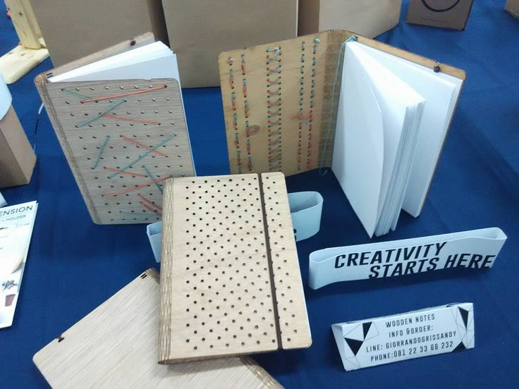 Wooden Notes, Laser Cut sketch book by Giorrando Grissandy