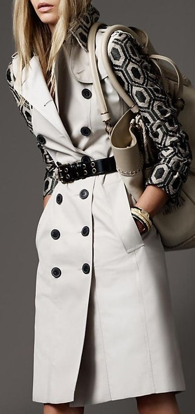 "Burberry.  Been looking for a reason to appreciate Burberry again since the ""chav"" revolution. Ensembles like this will do the trick. Sophisticated, perfect tones. Business chic. Love it.  - Helen   #burberry #fashion #style"