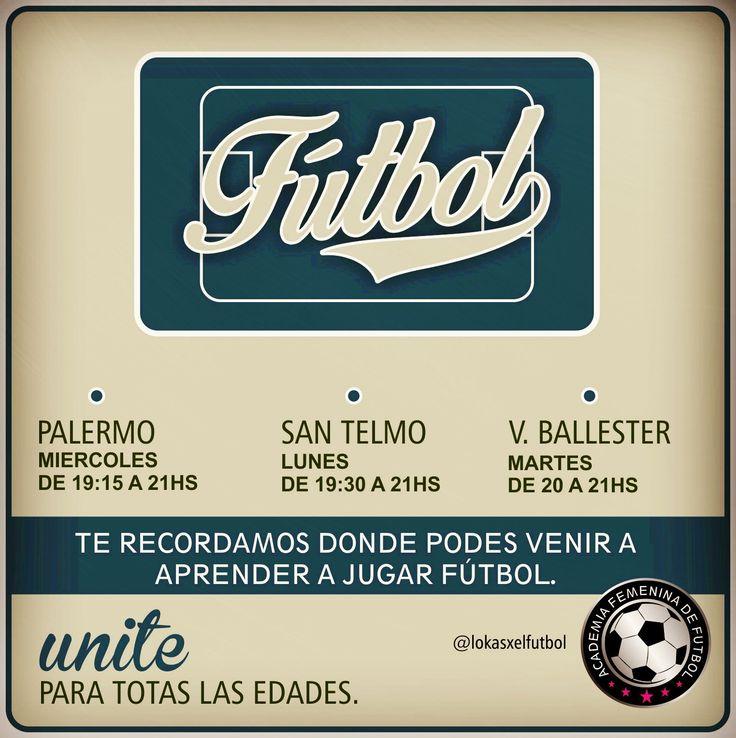 Sedes en Buenos Aires #FutbolFemenino #Women Soccer