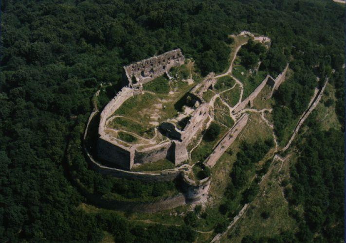 Hiking the citadel in Deva, Romania