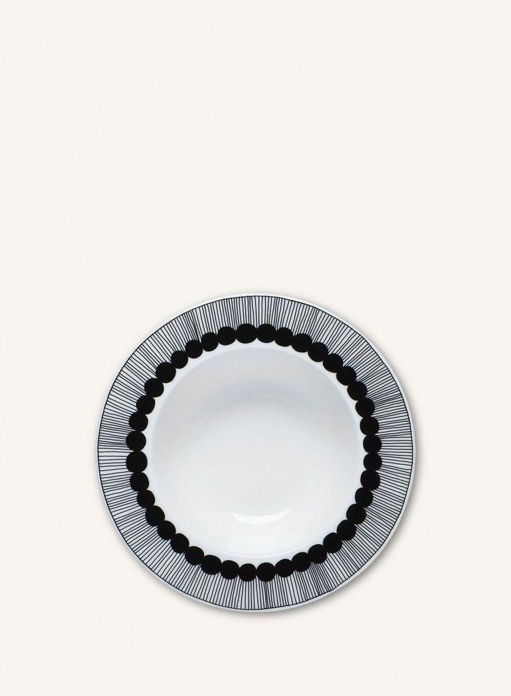 Marimekko Oiva/Siirtolapuutarha -syvä lautanen