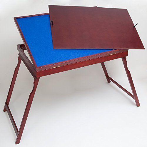 Expert Wooden Foldable Jigsaw Puzzle Table Storage DeskTilting Hobby Family Fun #KandN