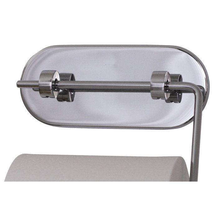 Элегантный металлический держатель для туалетной бумаги на прочной присоске – удобный вариант хранения бумаги. Крепится на сухую гладкую поверхность – плитку, стекло, пластик, металл и проч. Перед закреплением рекомендуется обезжирить поверхность, тщательно протерев спиртовым раствором или хотя бы тщательно промыть горячей водой.
