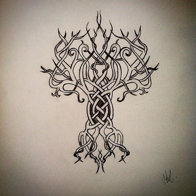 30 best Yggdrasil tattoo images on Pinterest | Yggdrasil ...