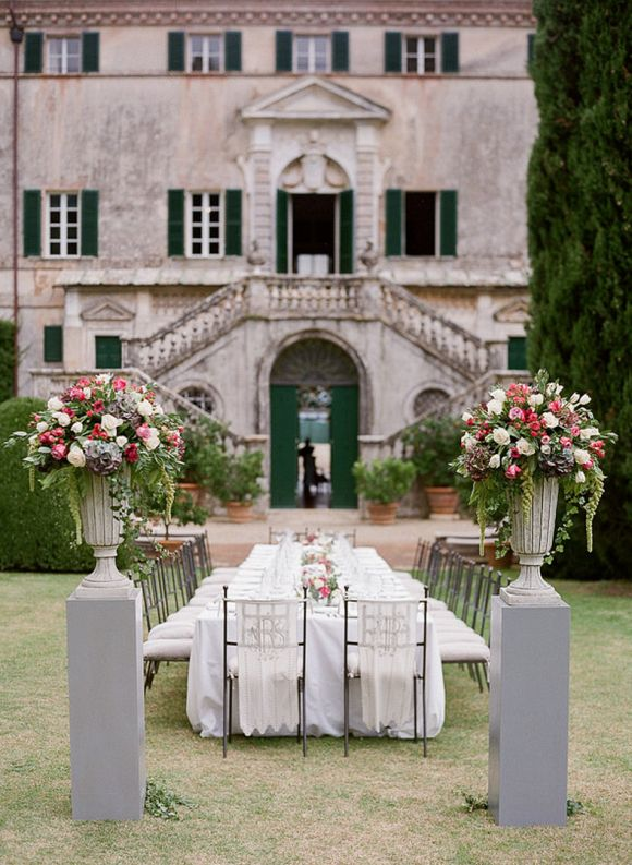 Intimate Italian Countryside Wedding At Villa Cetinale Reception In 2018 Pinterest And Italy