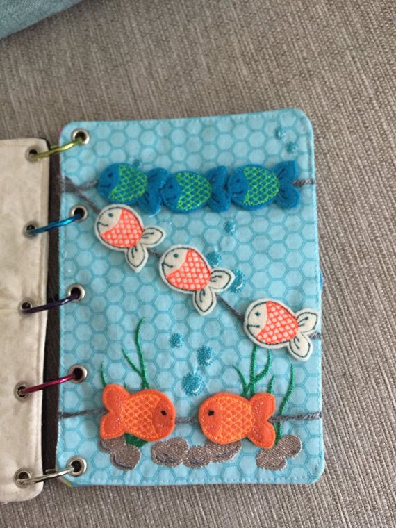 Swimming Fish Quiet Book Page  Busy Book  by HappyKidsEmbroidery